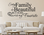 Lanue® Family is beautiful but ours is my favourite Vinyl Wall Stickers Quotes Wall Decal Home Decor
