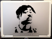 Tupac Raper Beautiful Artwork Silhouette Car Truck Laptop Macbook Vinyl Decal Sticker 10cm Black