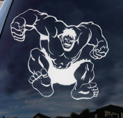 Incredible Hulk Super Hero Marvel Disney Characters Car Truck Laptop Macbook Decal Sticker 10cm White