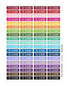 Monthly Planner Stickers Rainbow To Clean Header Stickers Planner Labels Compatible with Erin Condren Vertical Life Planner
