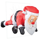Gemmy 89545 Christmas Animated Window Crashing Santa, 20cm X 36cm