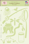 Fairytale Creations Creepy Crawlers Stencil, 22cm L x 28cm H