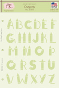 Fairytale Creations Crayons Alphabet Stencil, 22cm L x 28cm H
