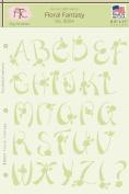 Fairytale Creations Floral Fantasy Alphabet Stencil, 22cm L x 28cm H