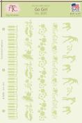 Fairytale Creations Go Girl Stencil, 22cm L x 28cm H