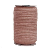 100 Yards of Ginger 1.6cm Fold Over Elastic on a Spool
