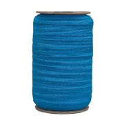 100 Yards of Pacific Blue 1.6cm Fold Over Elastic