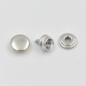 """20 Sets 3/8"""" 10mm Screw Stud Stainless Cap Sockets Snap Dot Fasteners Canopies"""