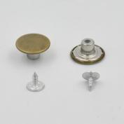 "50 PCS 17mm 0.67"" Look Inside Fine Jean Tack Snap Button Stud Rivet NO-SEW Bronze"