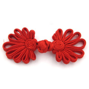 Lyracces Sewing Fasteners Braid Knit Daisy Flower Chinese Knot Closure Cheongsam Frog Buttons 10pair