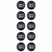 Mibo 2 Piece 4 Hole Button With Rim and Square Ring Insert Assorted Size Packs 18 mm 10-Pack