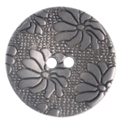 Mibo ABS Metal Plated 2 Hole Daisy Flower Button 5, 8, or 10 Pack Assorted Sizes 18 mm 10 Pack Matte Nickel
