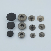 "Lot 100 Leather craft 12mm 1/2"" Rapid Rivet Button Snaps Fasteners Size Black Paint"
