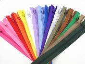 YAKA 48pcs Nylon Coil Zippers Tailor Sewing Tools Garment Accessories 23cm Zipper16 Colour