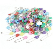 50Pcs Plastic Metal Locking Cloth Nappy Nappy Safety Pins Assorted Colour