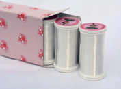 6 pack Fil Au Chinois INVISIBLE / CLEAR POLYAMIDE THREAD (for hand or machine sewing) 100m spool (600m total) - MADE IN FRANCE