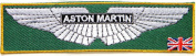 ASTON MARTIN Logo Sign Car Patch Sew Iron on Applique Embroidered T shirt Jacket Costume Gift BY SURAPAN