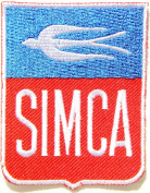 SIMCA Logo Sign Classic Car Patch Sew Iron on Applique Embroidered T shirt Jacket Costume Gift BY SURAPAN