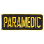 PARAMEDIC Patch 11 x 4 - Medium - Gold/Navy - Backpatch