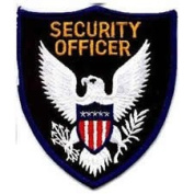 Security Rescue Patches - SECURITY OFFICER - Royal Blue Border
