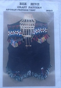 Bee Hive Afghan Fringed Vest Pattern #20342
