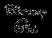 Disney BIRTHDAY Girl Rhinestone Iron On Transfer Hot Fix Bling