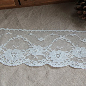 Ivory 10 Yards 6cm Wide Grace Flower Embroidered Lace Dress Lace Trim Fabric Ribbon Curtain Accessory Craft Lace