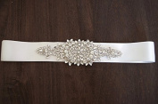 Beautiful Dream Wedding Pearl and Rhinestone Applique,  Rhinestone Applique Wave Trim, Bridal Crysta