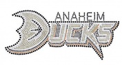 Hockey Ducks Rhinestone Iron on Transfer