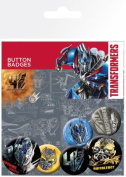 The Transformers Badge Pack - 4, Age Of Extinction, 4 X 25mm & 2 X 32mm Badges