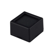 10 Glass-top Square Gem Jars - Black Jewellery Display
