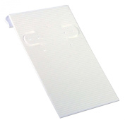 Earring Card 5.1cm x 7.6cm White Ribbed