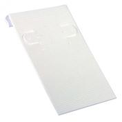 Earring Card 5.1cm x 7.6cm White Ribbed