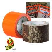 Real Tree Camo / Blaze Orange Duct Tape 2 pack 3.6cm X 5 yd each roll Duck Brand