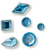 Karen Foster Design Birthstone Brads March, 108-Piece
