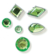 Karen Foster Design Birthstone Brads August, 108-Piece