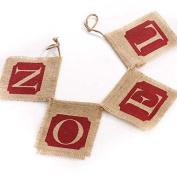 """100% Natural Jute Burlap """"Noel"""" Rustic Christmas Banner Garland"""