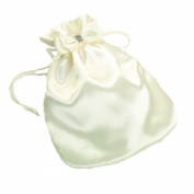 Lillian Rose Satin Money Bag, 29cm by 38cm , Ivory