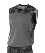 A4 N2345 Printed Camo Performance Muscle