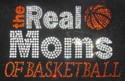 Real Moms of Basketball N Rhinestone Transfer Iron On - DIY