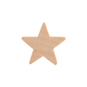 2.5cm Wood Star, Natural Unfinished Wooden Star Cutout Shape (2.5cm ) - Bag of 25
