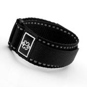 Black Medical ID Sport Strap Adjustable 4 1/2 - 14cm