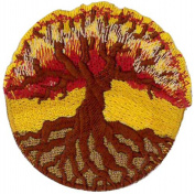 Tree of Life Embroidered Patch 6cm Dia