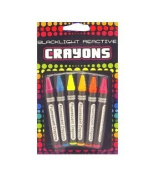 Neon Blacklight Reactive Crayons 6-pack