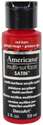 DecoArt Americana Multi-Surface Satin Acrylic Paint, 60ml, Red Barn