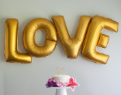 Love Letters 100cm Large Gold or Silver Foil Balloons - Wedding Party Decoration