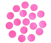 Hot Pink Adhesive Felt Circles; Package of 48 or 240 Wholesale, 3.8cm Wide, Die Cut Appliques; DIY Projects