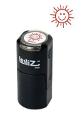 LolliZ Happy Sun Round Self-Inking Teacher Stamp With Lid. Red Colour