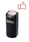 LolliZ Facebook Like Round Self-Inking Teacher Stamp With Lid. Red Colour