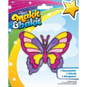 Colorbok Makit and Bakit Suncatcher Kit-Large Butterfly Multi-Coloured